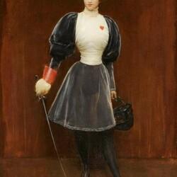 Пазл онлайн: Фехтовальщица