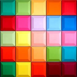 Пазл онлайн: Разноцветные квадраты