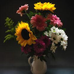 Пазл онлайн: Цветы осени