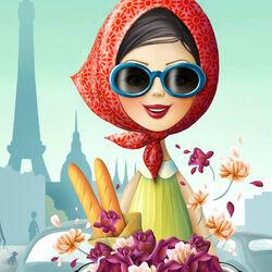 Пазл онлайн: Утро в Париже