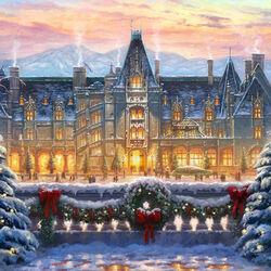 Пазл онлайн: Рождество в Билтморе