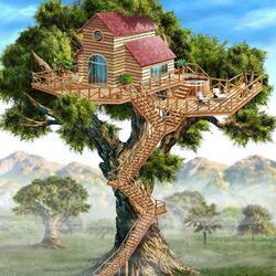 Пазл онлайн: Отступление. Верхушки деревьев