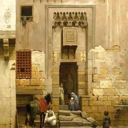 Пазл онлайн: Двор в Каире