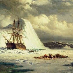 Пазл онлайн: Корабль во льдах