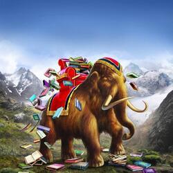 Пазл онлайн: Книжный мамонт