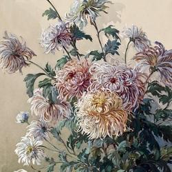Пазл онлайн: Хризантемы