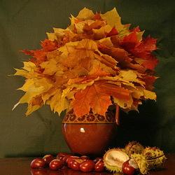 Пазл онлайн: Букет осенних листьев