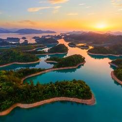 Пазл онлайн: Озеро тысячи островов