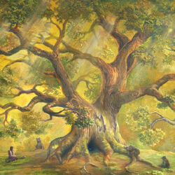 Пазл онлайн: Под кроной дерева