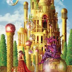 Пазл онлайн: Замок золотой