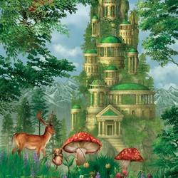 Пазл онлайн: Зелёный замок