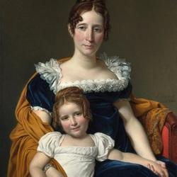 Пазл онлайн: Портрет графини Vilain XIIII и ее дочери