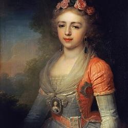 Пазл онлайн: Портрет великой княжны Александры Павловны