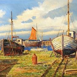 Пазл онлайн: Ремонт лодок