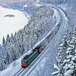 Пазл онлайн: Сквозь зиму