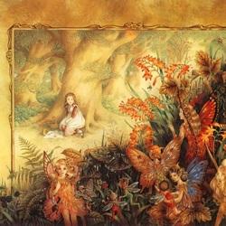 Пазл онлайн: В лесу с феями
