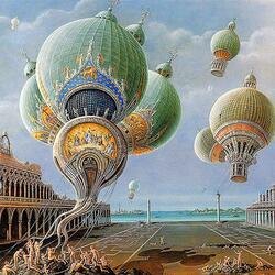 Пазл онлайн: Храмы покидают Венецию