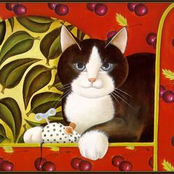 Пазл онлайн: Апрельская кошечка