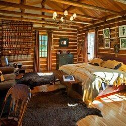 Пазл онлайн: Спальня в деревенском доме