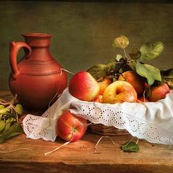 Пазл онлайн: Спелые яблочки