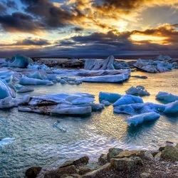 Пазл онлайн: Ледниковая лагуна