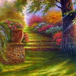 Пазл онлайн: В райском саду