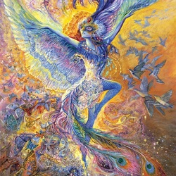 Пазл онлайн: Голубая птица