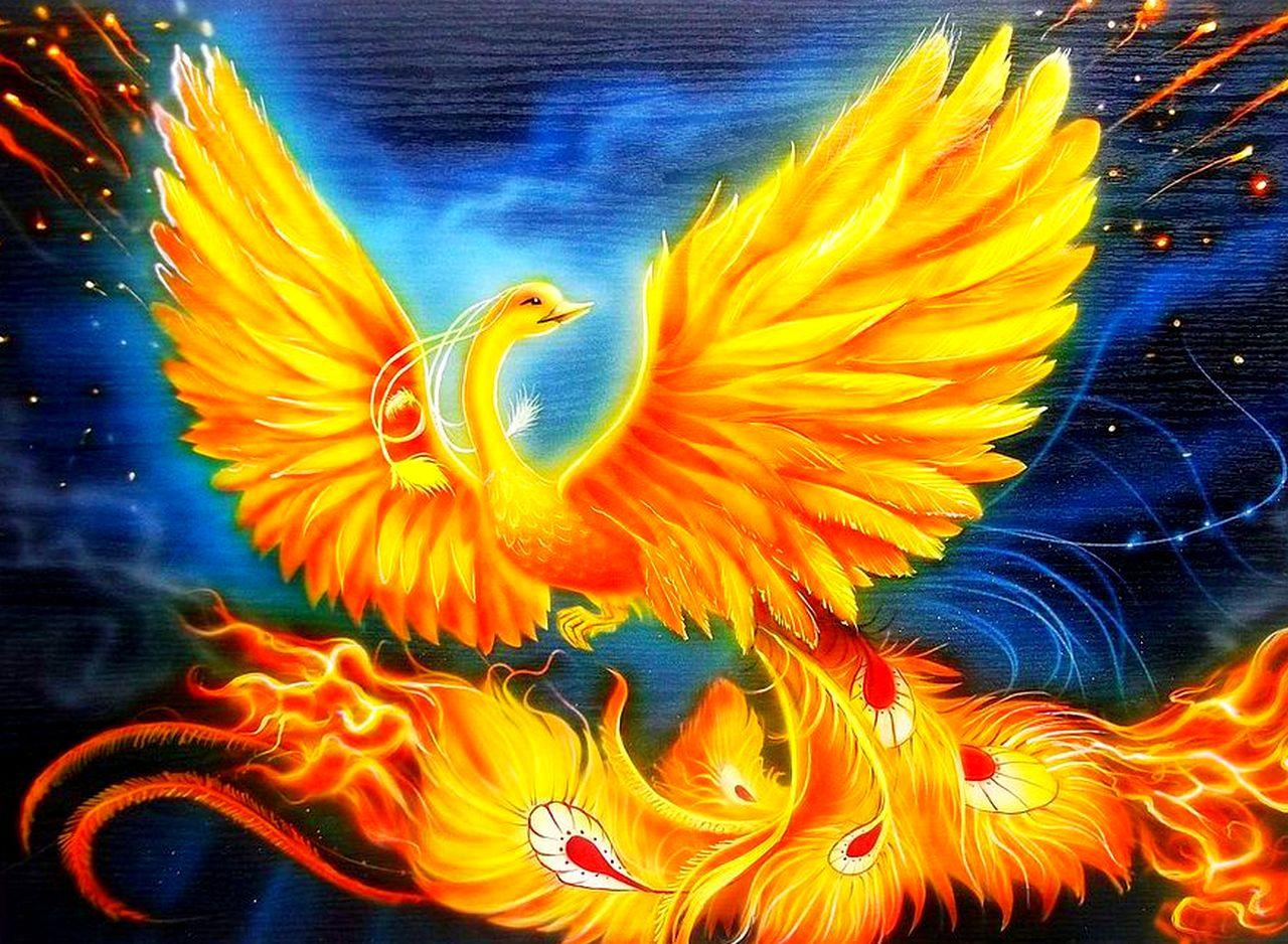 Картинка золотой птицы