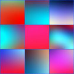 Пазл онлайн: Красно-голубой