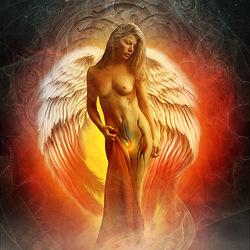 Пазл онлайн: Ангел огня