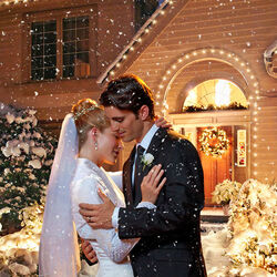Пазл онлайн: Зимняя свадьба