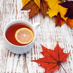 Пазл онлайн: Чай с лимоном