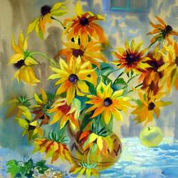 Пазл онлайн: Солнечные цветы