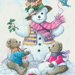 Пазл онлайн: Мишкин снеговик