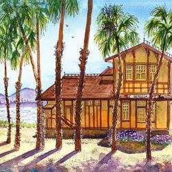 Пазл онлайн: Дом на берегу
