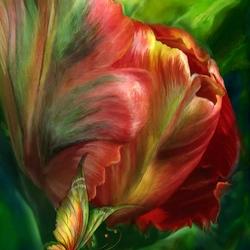 Пазл онлайн: Великолепный тюльпан