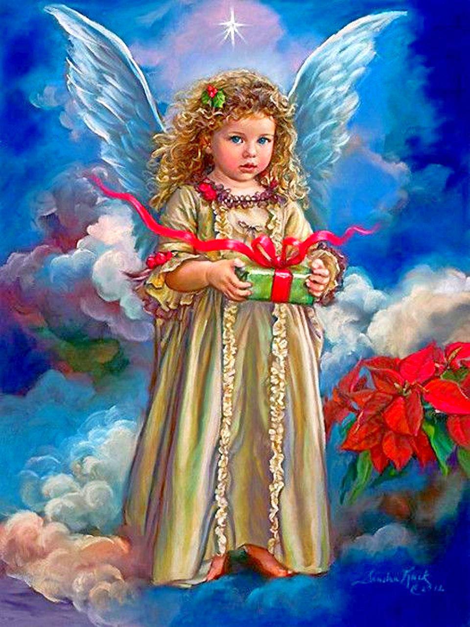 Рисунок ангелов фото
