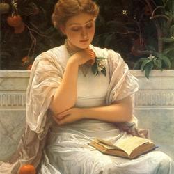 Пазл онлайн: Читающая девушка