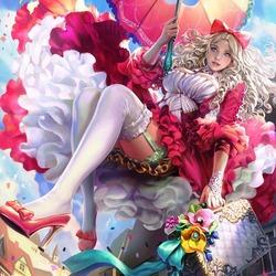 Пазл онлайн: Воздушная ведьма Марни