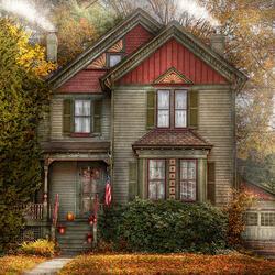 Пазл онлайн: Дом в Крэнфорде