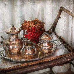 Пазл онлайн: Утренний чай