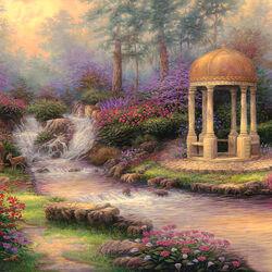 Пазл онлайн: Сад бесконечной любви