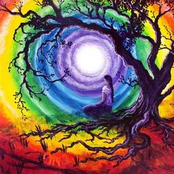 Пазл онлайн: Медитация под древом жизни