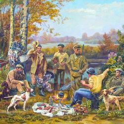 Пазл онлайн: Охотники