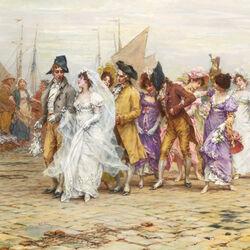 Пазл онлайн: Свадебная процессия