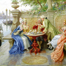 Пазл онлайн: Аристократы в Венеции