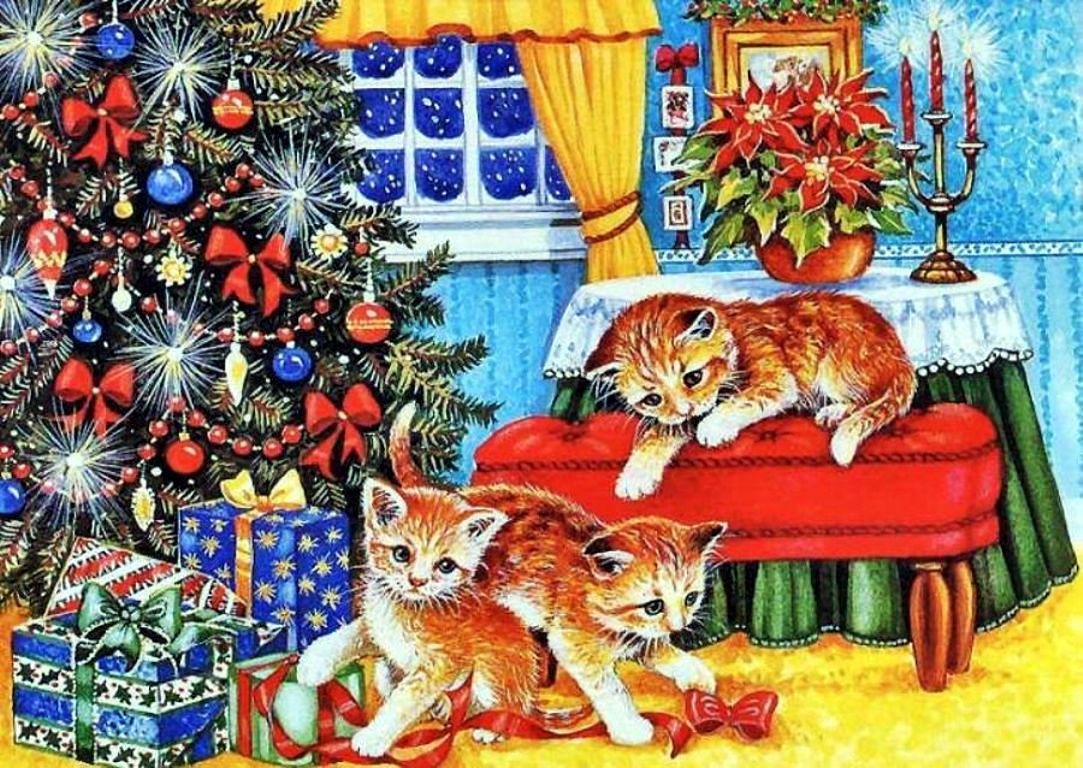 Открытки с новым годом котенком, прикольные пожарные открытка