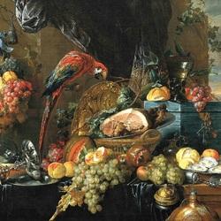 Пазл онлайн: Обед с попугаем