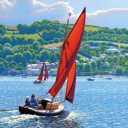 Пазл онлайн: Яхты