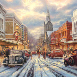 Пазл онлайн: Праздничный город